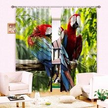 Animal print 3D curtain