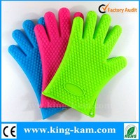 Kitchen Accessory non-stick Silicone BBQ Gloves Silicone Heat Resistant Gloves With Fingers