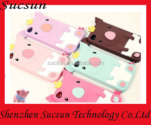Mobile phone case 3d silicone cartoon case for iPhone/Samsung Animal shaped cute case
