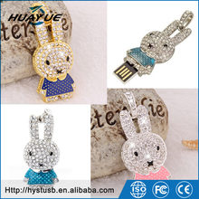 Lovely Animal Jewerly UDP 2.0/3.0 Necklace USB Pendrive With Miffy Rabbit