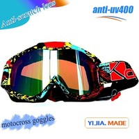 water transfer designed tpu frame and photochromic lens 3 layers face foam anti-uv400 motorcycle and motocross goggle