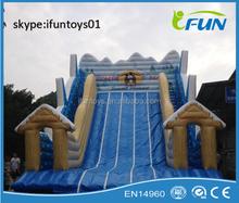 giant toboggan run inflatable winter slide / infatable toboggan run / portable inflatable toboggan
