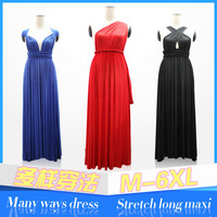 Jersey multi way wrap convertible dress fashion bridesmaid dresses long