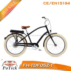 2015 new model electric beach cruiser bicycle/electric chopper bicycle/electric beach cruiser bike