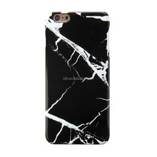 for iPhone 6 Plus Case - Hard Case Print Crystal - Black Marble Pattern Cover