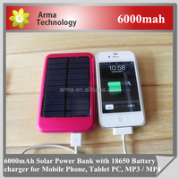 6000mAh Solar Charger Portable Power Bank Powerbank Bateria Externa Carregador De Bateria Portatil Para Celular