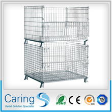 steel pallets for sale/equipment storage cages/wire mesh container with plastic pallet