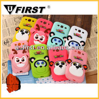 Cute and colorful big face Monkey Silicon Case for Samsung Galaxy S3