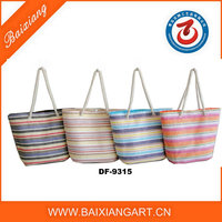 2016 new style paper straw shopping bags/women straw bags