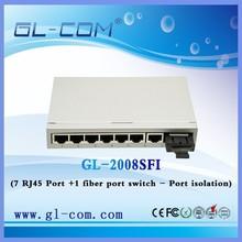 8 ports 7FE +1 Fiber Port switch web management Port isolation Ethernet switch /Network switch