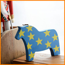 zakka wood crafts creative home small ornaments painted horse gifts Xianju wood products wholesale