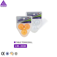 Colorful xylonite 3 pack 3 star table tennis balls