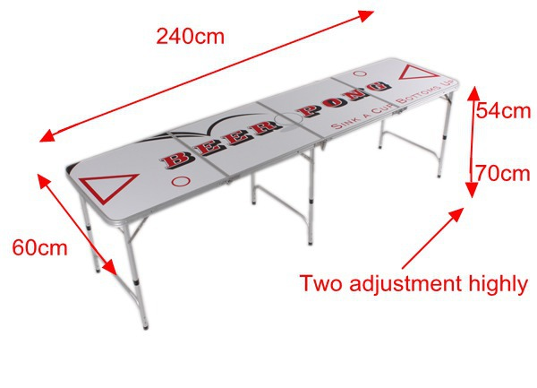 Aluminum Folding Beer Pong Table
