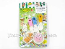 2012 newest promotional chilken set funny erasers
