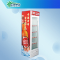 Refrigerador para bebidas, refrigerador comercial pequeño con puerta de vidrio, refrigerador de gran capacidad y una sola puerta