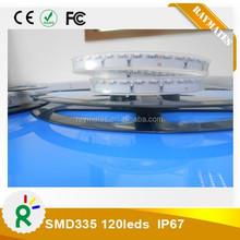 long life span side lighting waterproof IP67 120leds 335 strip light warranty 3 years