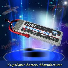 2S 7.4V 5000mAh 50C rechargeable Polymer lithium battery