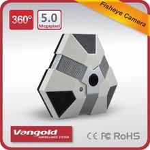 5 megapíxeles cámara <span class=keywords><strong>panorámica</strong></span> 360 grados y 180 grados de ojo de pez cámara cctv