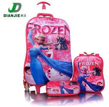 2015 New Products 3 in 1 Carton Designs 3D Print EVA Frozen travel Luggage bags.School children trolley bags,Travel kids lugage