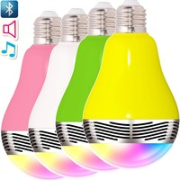 Eco-friendly led bulb lamp bluetooth portable speaker with color flash lighting