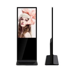 43-дюймовый супер тонкий Видеостойка и дистанционное управление Реклама Сенсорный киоск Медиа-плеер LCD интерактивная стойка