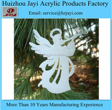 China supplier acrylic angel wings christmas hanging ornament