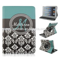 Nobility Style 360 Rotary Flip Stand PU Leather Tablet Case For iPad 2/3/4, For iPad mini 1/2/3,For iPad air 2 With Elastic Belt