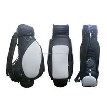 OGL-9183 High quality black leather den caddy golf bag IN Stock