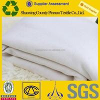 2015 gots organic fabric healthy 100% plain white organic cotton t-shirts fabric