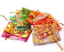 China Personal Logo organza gift bags For Sale