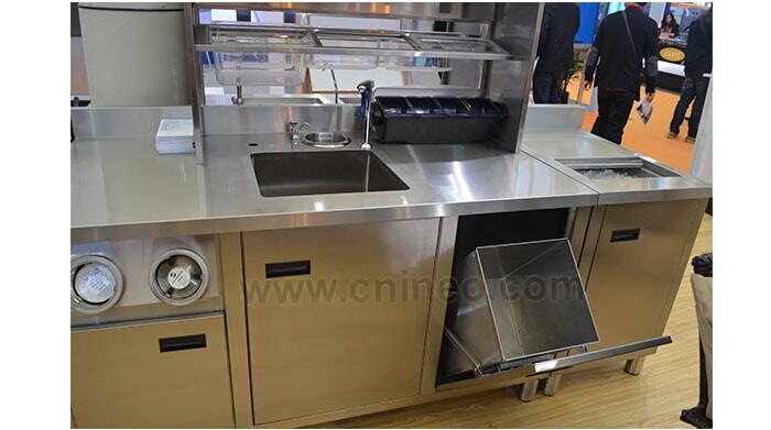 En acier inoxydable de restauration commerciale design for Equipement de cuisine commerciale