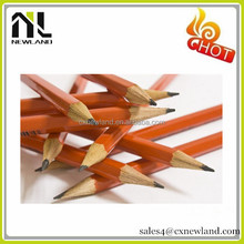 Standard size shrink film christmas cartoon round HB wooden pencil with rubber for kids