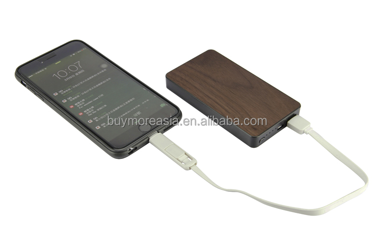 best selling product wood usb power bank charger