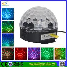 IR control & USB led crystal magic ball stage light/led crystal ball