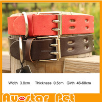 High Quality Big Dog Collars Pet Goods Direct Brand Leather Collars for Large Dogs