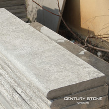 300x1200x50mm flamed blue limestone bullnose edge pool coping