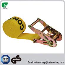 polyester ratchet tie down, truck straps, cargo latching belt tether