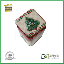 Christmas Motive Metal empty tin boxes for gift