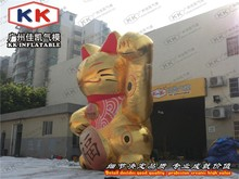 popular giant inflatable advertising model lucky cat for hot selling