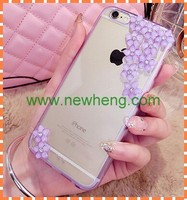 Clear Hard PC Case with printing For Iphone 6