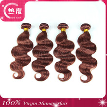 Super quality and competitive price body wave color#33 virgin Peruvian noble hair