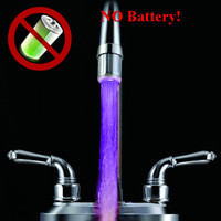 Cheapest water power LED Faucet light gift item with low cost
