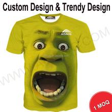 Shortsleeve custom 3d printing t-shirt with custom label