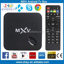 2015 Top selling Amlogic S805 Quad Core MXV Android Smart TV Box