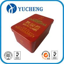 hangzhou factory recycle rectangle metal deep tea tin can