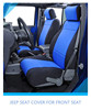 jeep seat cover customized for front seat made of neoprene black and blue