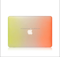 High quality new fashion Gradient rainbow ultra thin PC laptop case for MacBook Pro 15.4 inch