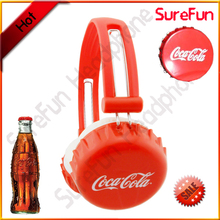 custom headphone with each ear cup to be shaped or printed with client logo