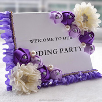factory price clear acrylic wedding sign holder artificial rose table card