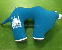 camel shape design fashion inflatable travel neck pillow for travel company promotion gifts